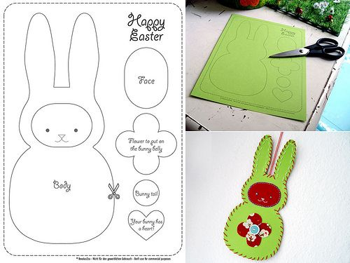 easter bunny template/tutorial