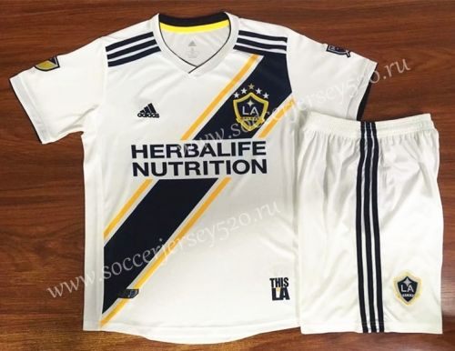 2019 20 Los Angeles Galaxy Home White Soccer Uniform Ay Soccer Uniforms Soccer Football Sweater
