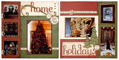 """Home for the Holidays"" #scrapbook layout idea from #CTMH."