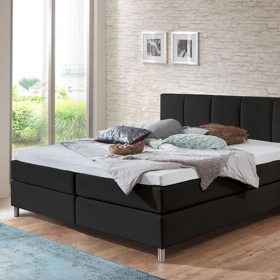 Boxspring Bed Rockford Sand Paint 200x200 Cm H3 To 120kg 120kg 200x200 Bed Boxspring Paint Rockford Sand In 2020 Box Spring Bed Bed Springs Appartment Decor