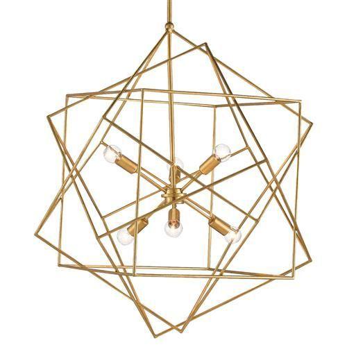 Dade Geometric Modern Gold Cubes Chandelier Geometric Chandelier Chandelier Contemporary Home Decor