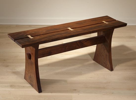 Menuiserie Bois Nice : Wood Butterfly Joint Bench