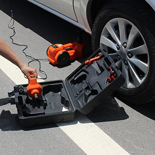 Best Seller 12v Dc 1 Ton Electric Hydraulic Floor Jack Set Impact Wrench Car Use 6 1 17 1 Inch Orange Online Thehotnewreleases In 2020 Best Electric Car Car Jacks Roadside Emergency Kit