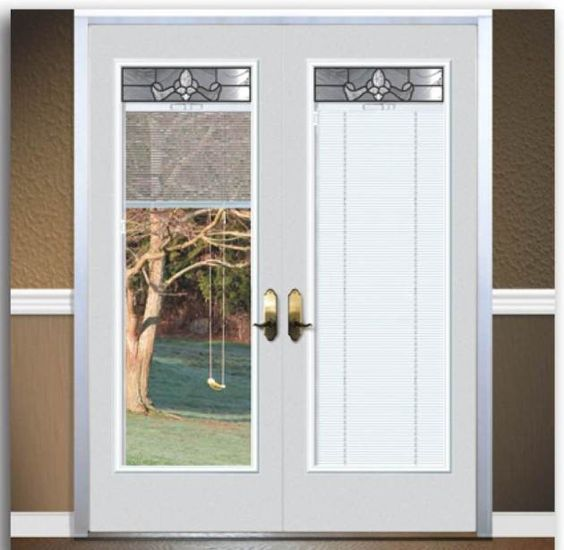 Fiberglass French Doors With Built In Blinds