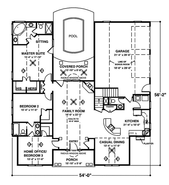 One Story Bungalow Floor Plans Crandall Cliff One Story Home
