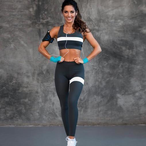 Women Yoga Set Two Piece Sport Fitness Tracksuits Bra Leggings Sportswears Cloth