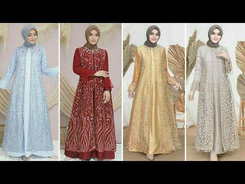 20 Model Gamis Brokat Modern Terbaru Cocok Untuk Pesta Dan Lebaran 2020 Youtube Pakaian Pesta Model Pakaian Model Pakaian Muslim