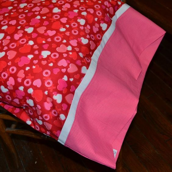 Valentine Pillowcase ... cute, cheap way for the kids to decorate for ♥ day.  $15  #Etsy: Children S Bedroom, Bedroom Bedding, Pillows Pillowcases, Pillowcase Valentine, Oncology Kids, Pillowcase Jazz, Valentine Pillowcase, Childs Bedroom
