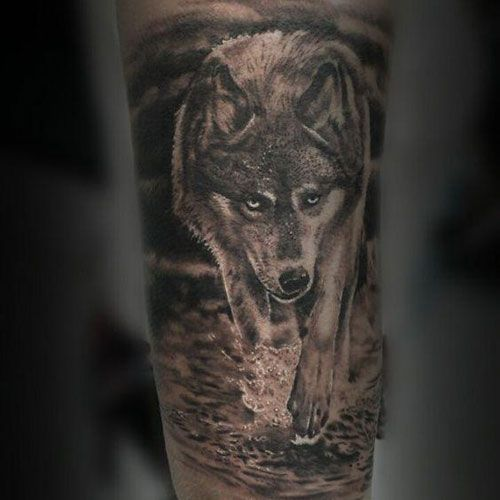 50 Amazing Calf Tattoos Cuded Wolf Tattoos Calf Tattoo Leg Tattoos
