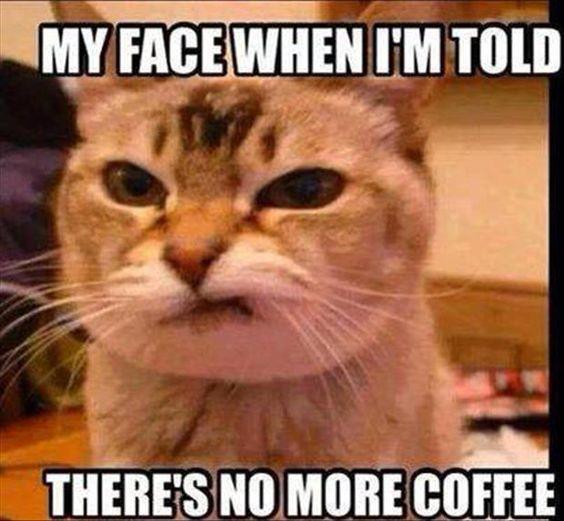 No more coffee?: