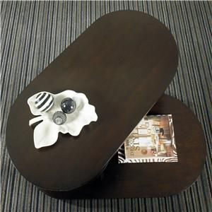 Update your living room, family room, den or sitting room with this unique rounded coffee table. An open cantilever design incorporates built in shelving that allows you to easily store books, magazines, remotes and other compact items. #Rifesfurniture #Oregon #table