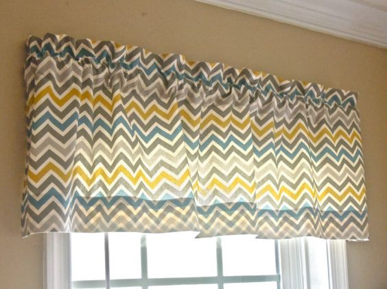 50x15 Window Valance  Chevron/zig zag  Modern by thefarley4, $32.00