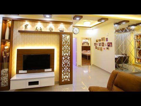 Wall Tv Unit With Mandir
