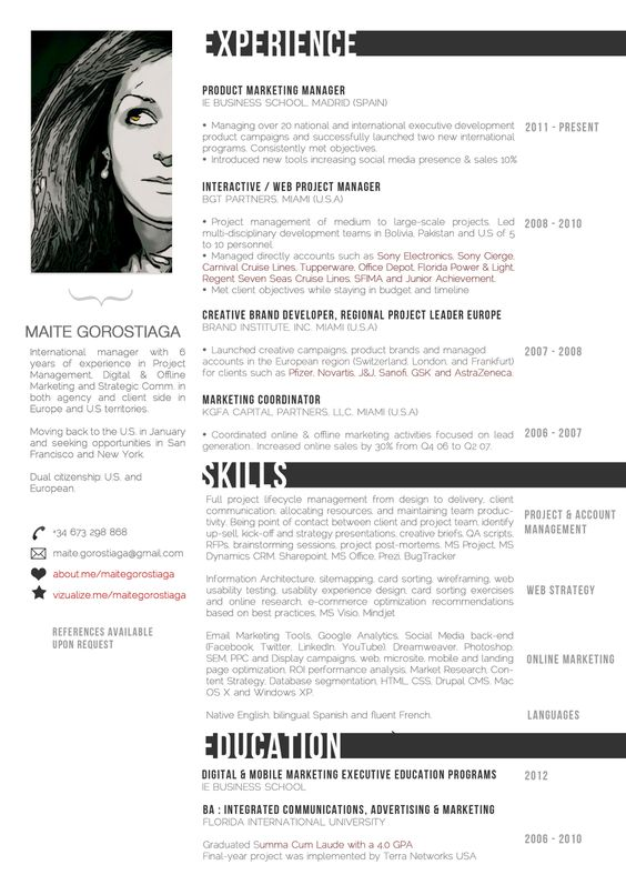 Student Resume and Cover Letter by Designed in Berlin on - digital project manager resume