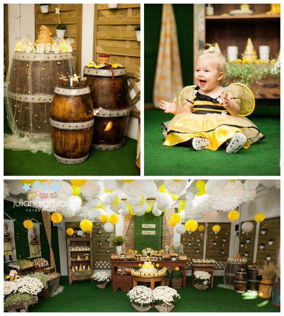 Bee Themed 1st Birthday Party Firstbirthday Birthdayparty