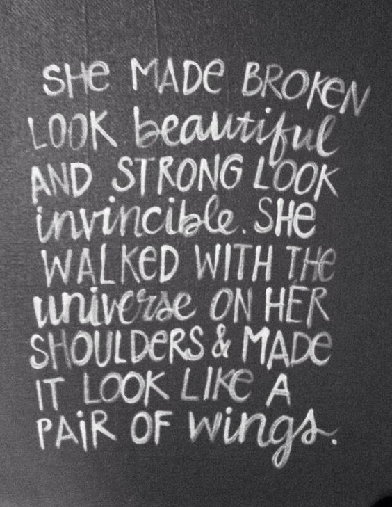 She made broken look beautiful wall art by livingstonandporter