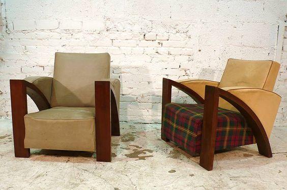 art deco armchairs / french / circa 1930