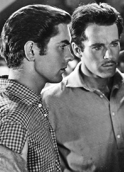 "oldhollywood-glamour: ""Tyrone Power and Henry Fonda in Jesse James (1939)"" R"