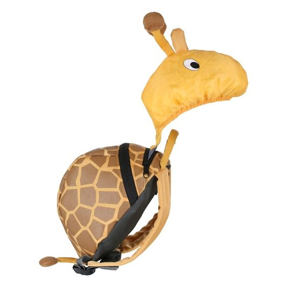 Giraffe backpack with parent handle/strap and rain hood...perfect for carter jay <3