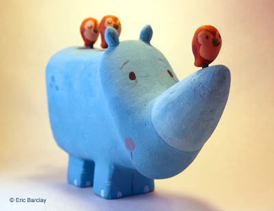 Eric Barclay: Rhino Sculpture