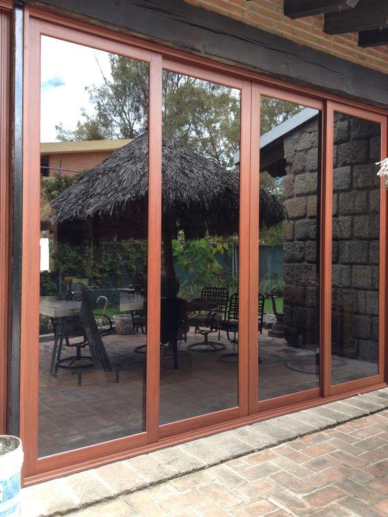 Cancel para salida al jardin o a la terraza 4 puertas - Puertas para jardin de aluminio ...