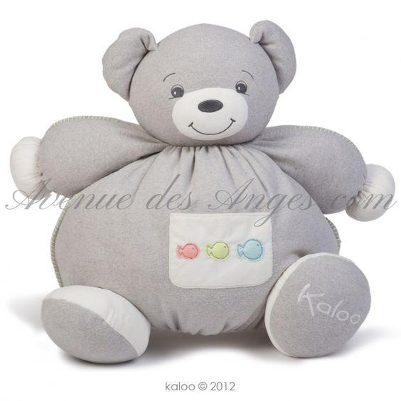 Maxi patapouf #Ours - #Kaloo Zen: un bon gros ours Kaloo tout en douceur que les enfants vont chérir longtemps. Un gris pastel mixte, une bonne frimousse et une texture unique...  http://www.avenuedesanges.com/fr/kaloo-zen/3696-maxi-patapouf-ours-4895029627415.html