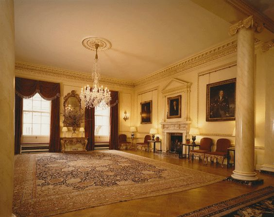 Restorations Of State Rooms At 10 Downing Street London