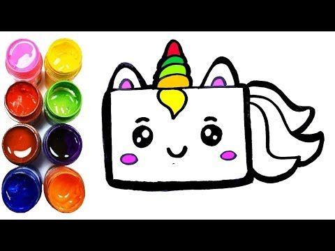 Come Disegnare Una Torta Di Compleanno Unicorno Kawaii Per Bambini