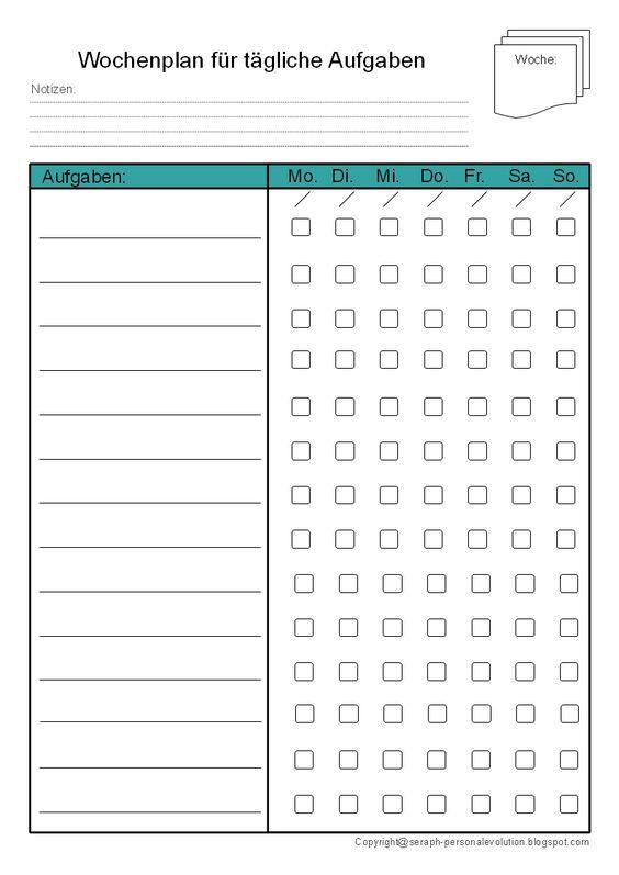 Todoliste Vorlage Druckvorlage Tagesplan kostenlos seifert pdf to do liste zeitmanagement getting things done wochenplan tagesplanung download Din A4 A5 A6