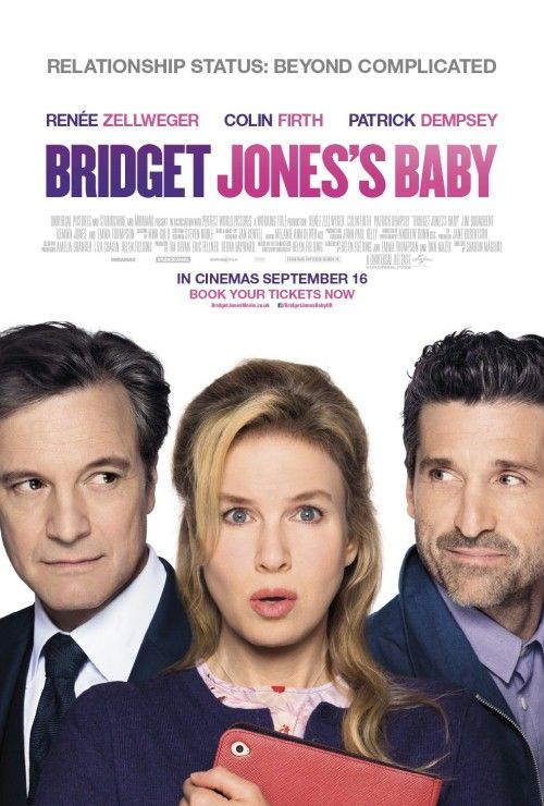 """""""Bridget Jones's Baby"""" (2016)Breaking up with Mark Darcy leaves Bridget Jones over 40 and single again. Feeling that she has everything under control, Jones decides to focus on her career as a top news producer. Suddenly, her love life comes back from the dead when she meets a dashing and handsome American named Jack. Things couldn't be better, until Bridget discovers that she is pregnant."""