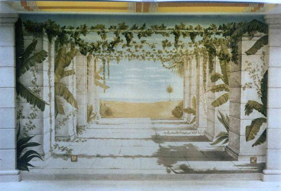 Mural-trompe en piscina sotterranea. www.dmstudio-roma.com