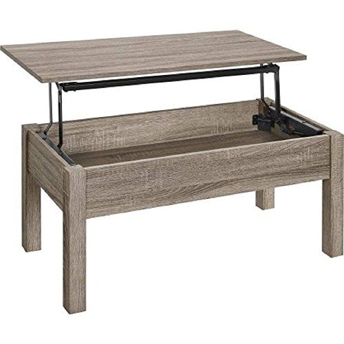 Mainstays Unique Innovative Lift Top Coffee Table Sonoma Oak