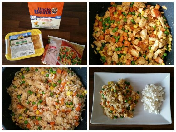Rice, chicken and vegetables