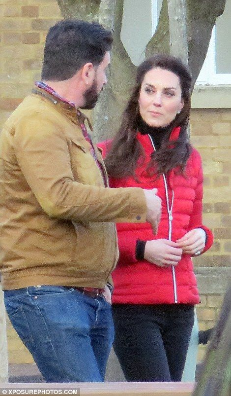 Nick Knowles and Kate appeared to have no trouble getting along this afternoon: