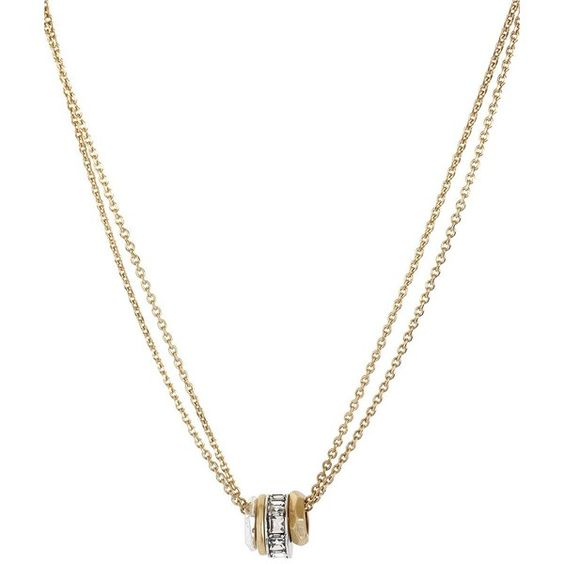 KENNETH COLE NEW YORK Multi-Metal Circle Frontal Necklace