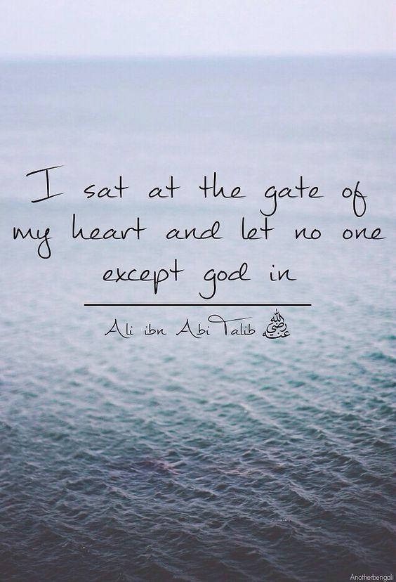 ...no one except Allah...