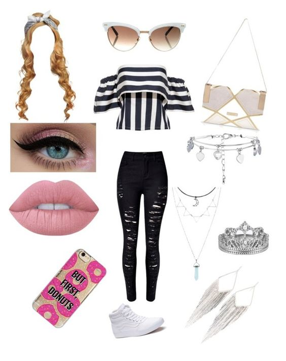 """""""Ur always beautiful"""" by michelle-martinez890 on Polyvore featuring WithChic, Vans, River Island, New Look, Lime Crime, Gucci, Agent 18 and Jules Smith"""