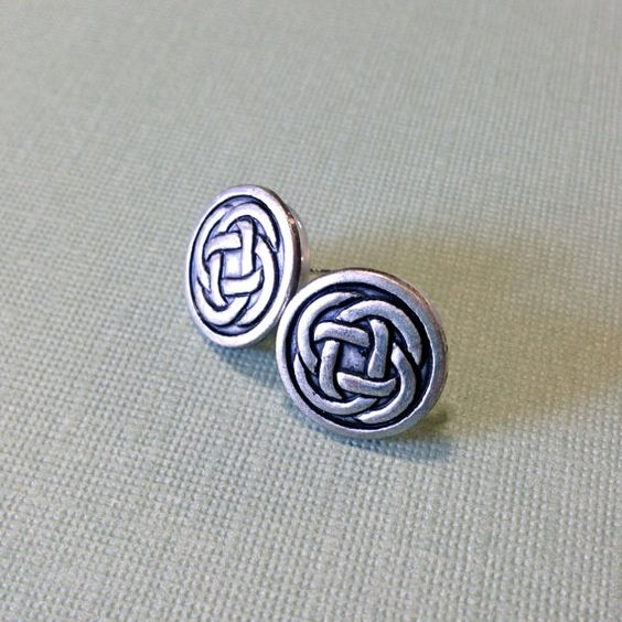 Silver Metal Celtic Knot Stud Post Earrings by AuntieBeths on Etsy, $14.50