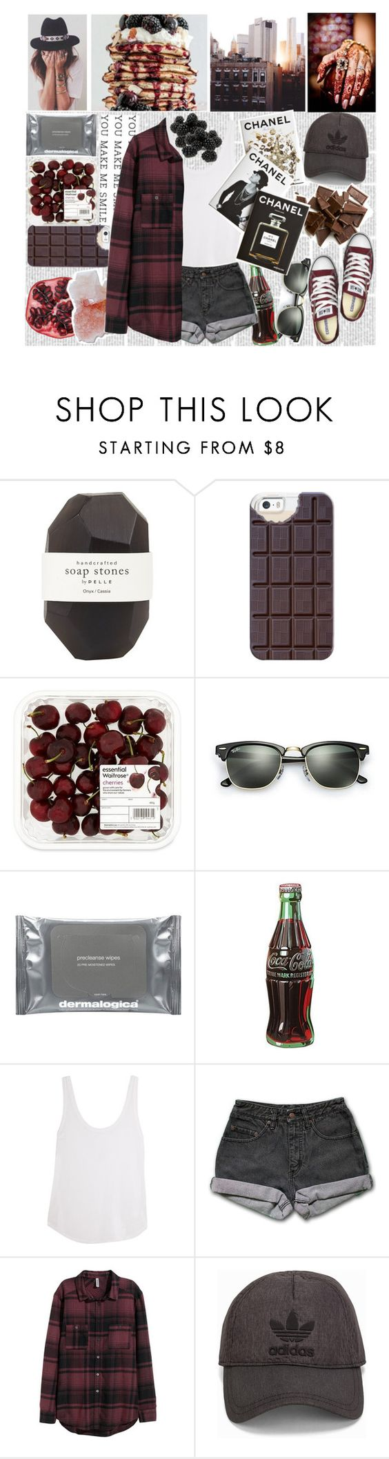 """You Can Have Me"" by nsrogsy3 ❤ liked on Polyvore featuring Pelle, Casetify, Ray-Ban, Dermalogica, Retrò, Frame Denim, PèPè, H&M, adidas Originals and Converse"