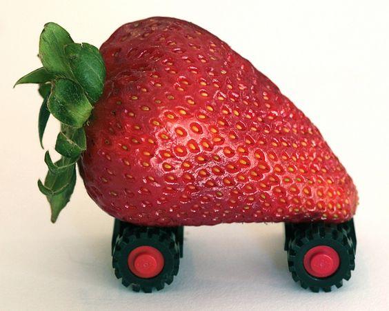 strawberry on wheels :)