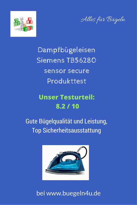 Dampfbügeleisen Siemens TB56280 sensor secure Produkttest Gute Leistung, gute Bügelqualität, Top Sicherheitsausstattung!!!  #buegeln. #Hausgeräte #sparen #Produkttest #Schnäppchen