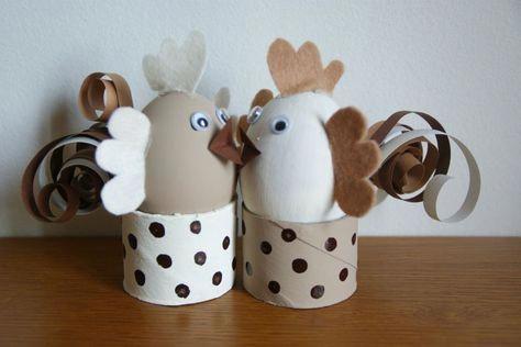 Une petite poulette et un petit coq ... #petitbricolagedeco