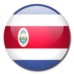 Resultado de imagen de bandera redonda costa rica