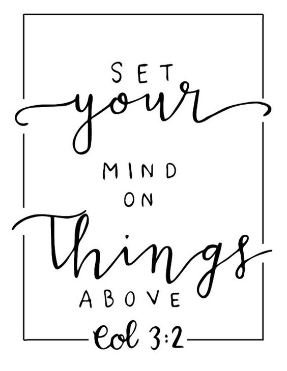 Set your mind on things above by LoveAndLaurel on Etsy: