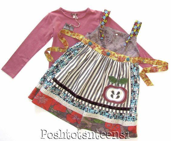 Matilda Jane You & Me ROSEMARY Tee & PERCY Knot Dress Set 6 kfp1