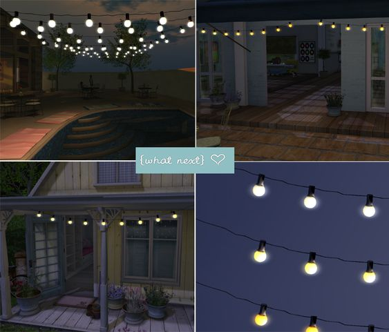 String Lights Sims 4 : {what next} Amalfi Lights for Marketplace SIMS Pinterest Cottages, Lazy sunday and String ...