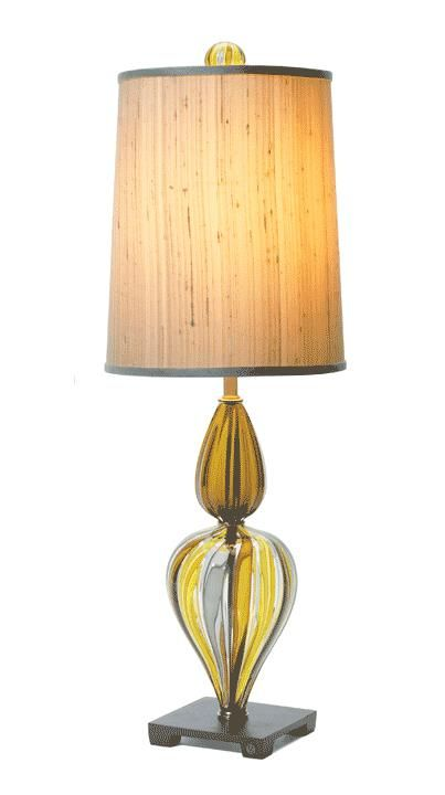 Yellow Dressing Table Lamp Courtesy of InStyle-Decor.com Beverly Hills Inspiring & supporting Hollywood interior design professionals and fans, sharing beautiful luxe home decor inspirations, trending 1st in Hollywood Repin, Share & Enjoy