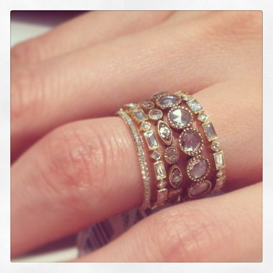 cool and different wedding rings wed pinterest stackable bands marquis and ring - Different Wedding Rings