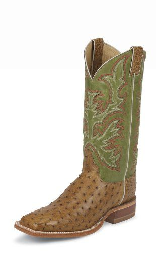 Justin Boots Men's Aqha Broad Square-toe Remuda Boot,Antique Saddle/Moss Green,10.5 EE US - http://authenticboots.com/justin-boots-mens-aqha-broad-square-toe-remuda-bootantique-saddlemoss-green10-5-ee-us/