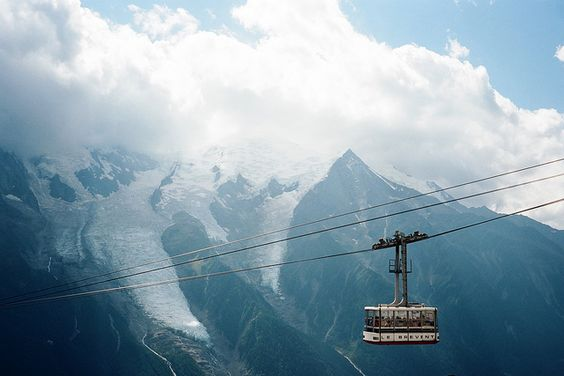 Chamonix, Mont Blanc, France...the telepherique scared me half to death (I don't like heights!)!!!